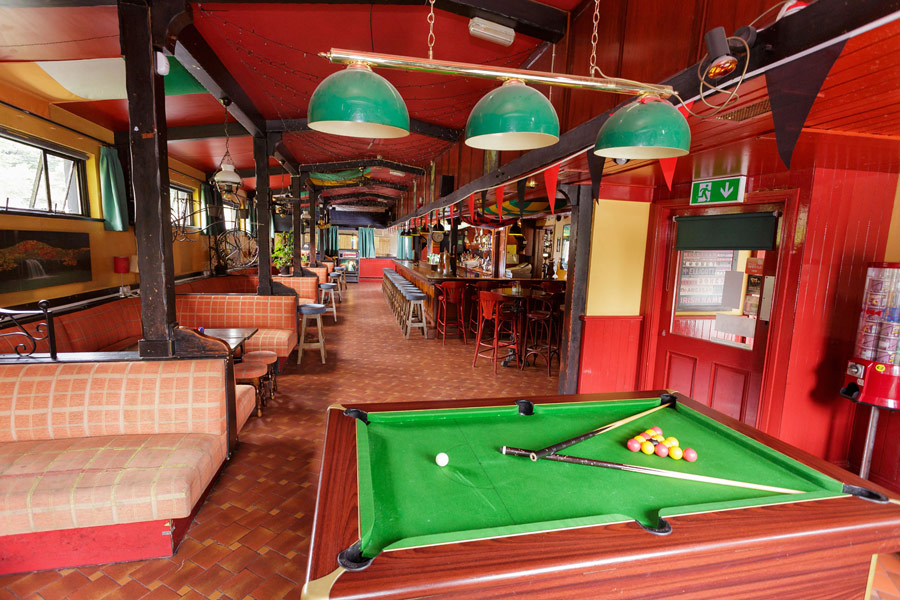 Enjoy a game of pool at the 'Nugget'