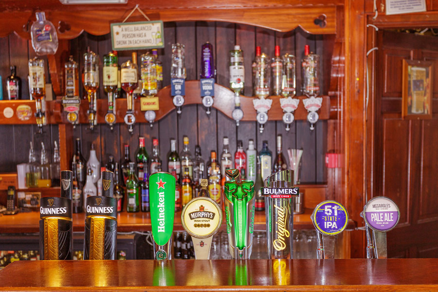 We have a wide selection of beers and spirits