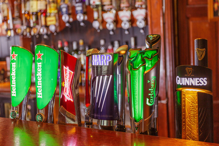 We have a wide range of beers on draught